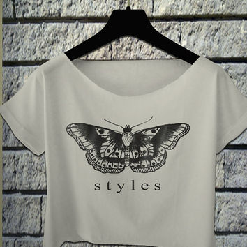 one direction shirt one direction crop top crop tee harry styles tshirt louis tomlinson shirt black and white colors all size fits