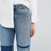Current Air Patchwork Mom Jeans at asos.com