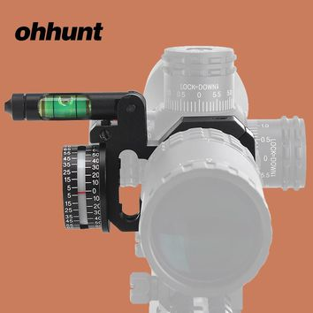 ohhunt Hunting 24.5/30mm Angle Cosine Indicator Kit and Bubble Level fit for Offset Bi-direction 1 inch 30mm Scope Mount Rings