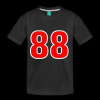 Red White Outline Number 88 | Numbers and Letters