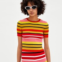 MULTICOLORED STRIPED SWEATER DETAILS