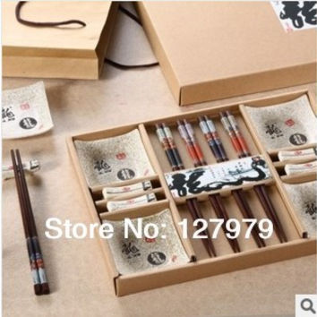 Chopsticks set, China wind tableware, Japanese tableware, sushi tableware, flatware, chopsticks, Classic Wedding Gift~