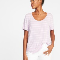Luxe Curved-Hem Tee for Women |old-navy