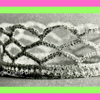1970s Brides Crown of Loops-Vintage Crochet Pattern-Bridal Tiara-Brides Crown-Wedding Keepsake-Bridal Shower-Topper-Bride-Crochet Wedding