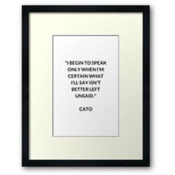 'CATO Stoic Philosophy Quote' Art Print by IdeasForArtists