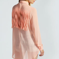 Summer Open Back Baggy Shirt