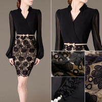 Fashion Women Summer Bandage Bodycon Lace Evening Sexy Party Cocktail Mini Dress = 5738832961