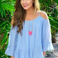 The Perfect Girl Tank-Powder Blue
