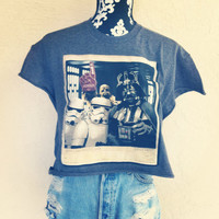 STARWARS Funny Crop Shirt