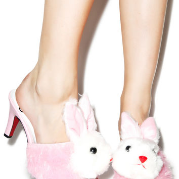 O Mighty Slutty Bunny Heels Pink