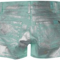 7 For All Mankind Big Girls' Short With Foil, Mint, 8