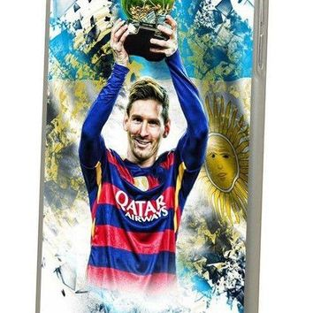 New Lionel Messi Soccer Football Trophy Gift Hard Cover Case For iPhone Huawei