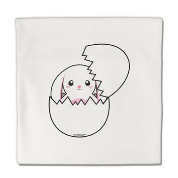 """Cute Easter Bunny Hatching Micro Fleece 14""""x14"""" Pillow Sham by TooLoud"""