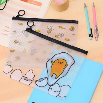 1 x cartoon Gudetama PVC file bag A5 file folder documents filling bag office school suppllies stationery bag