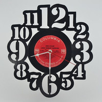 Unique Handmade Vinyl Record Wall Clock Gift (artist is Bob Dylan)