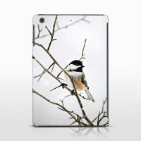 Winter Bird Tablet Cover, Bird Photography, Nature Art, White Tablet Case, Apple iPads, Samsung Galaxy Case