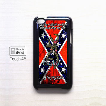 Confederate rebel Flag Image for Ipod 4/Ipod 5 apple case
