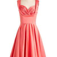 Vintage Inspired Long Sleeveless Fit & Flare Aisle Be There Dress in Tulip