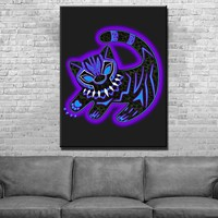 Black Panther Cub Canvas Set