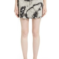 Ashley Williams Stephanie Tie Dye Denim Miniskirt | Nordstrom