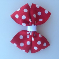 Red Polka Dot-Hair Bow-Accessories-Baby-Toddler-Kid's