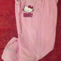 NWT Womens HELLO KITTY Pink Capri Fleece Lounge Pants Pyjama Pajama Pants Sleep