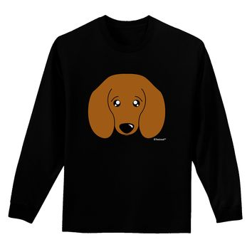 Cute Doxie Dachshund Dog Adult Long Sleeve Dark T-Shirt by TooLoud