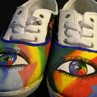 Custom Shoes - Eye of the Rainbow size 11 Women's Shoes