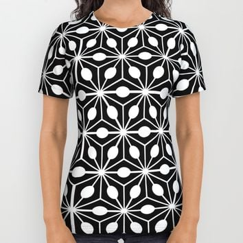 Cube Pattern Black White All Over Print Shirt by Cveti