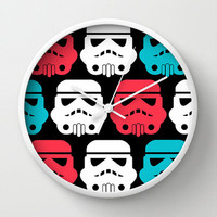 Star wars Wall clock - modern wall clock - Designer gift -Nursery decor - Contemporary decor - Wall Decor - Wall art