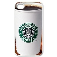 Starbucks Coffee Seatle Latte Iphone 4 4S Case Cover,Plastic Shell Hard Case Cover Protector