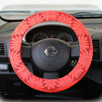 Steering-wheel-cover-for-wheel-car-accessories-Sunflower-Lace-print