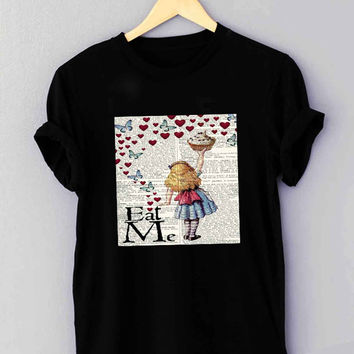 Alice in Wonderland Madhatter Chershire Cat - T Shirt for man shirt, woman shirt *NP*