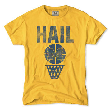 "Michigan ""Hail Michigan"" Basketball T-Shirt"
