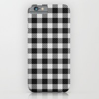 Sleepy Black and White Plaid iPhone & iPod Case by RichCaspian