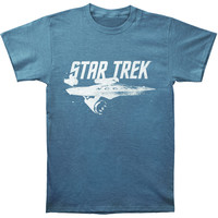 Star Trek Men's  Star Trek Slate T-shirt Blue Rockabilia