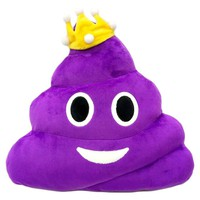 Purple Poo Emoji Pillow