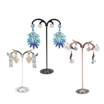 3 PCS/Lot Jewelry Display Metal Earring Holder Necklace Display Crystal Jewelry Ear Earring Display Holder