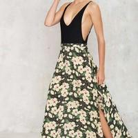 However You Slice It Floral Skirt