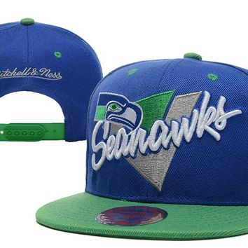 Seattle Seahawks Snapback NFL Football Cap M&N