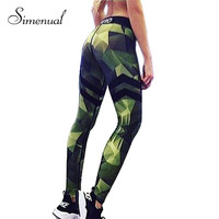 Camouflage striped print fitness legging pants female clothes athleisure push up elastic leggings for women harajuku jeggings