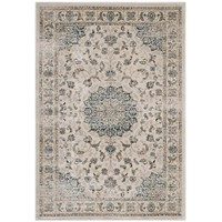 Atara Distressed Vintage Persian Medallion 8x10 Area Rug