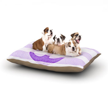 "Monika Strigel ""Stone Vintage Purple Anchor"" Dog Bed"