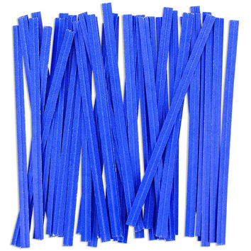 Blue Paper Twist Ties
