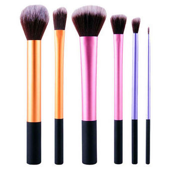 6 Pcs/set Pro Techniques Powder Cosmetic Makeup Brushes Kit Set Foundation Tools Blush eyeshadow Brushes Free Shipping
