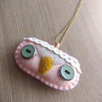 Felt Necklace - Owl necklace - Kawaii necklace - READY TO SHIP