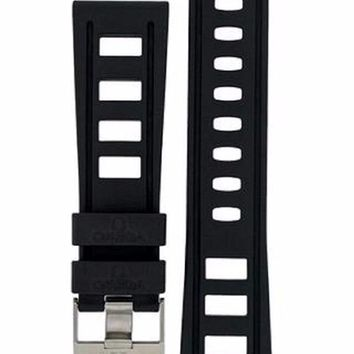 22mm Diver's Watch BLACK Silicone ISO Strap Fits Omega, Seiko