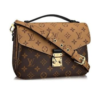 VON2DR Louis Vuitton Monogram Canvas Pochette Metis Cross Body Handbag Article:M41465