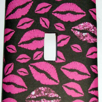 Light Switch Cover - Light Switch Plate Pink Lips