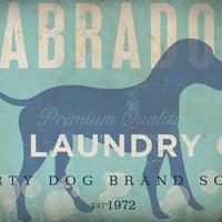 Labrador laundry company laundry room artwork giclee archival signed artists print by Stephen Fowler Pick A Size